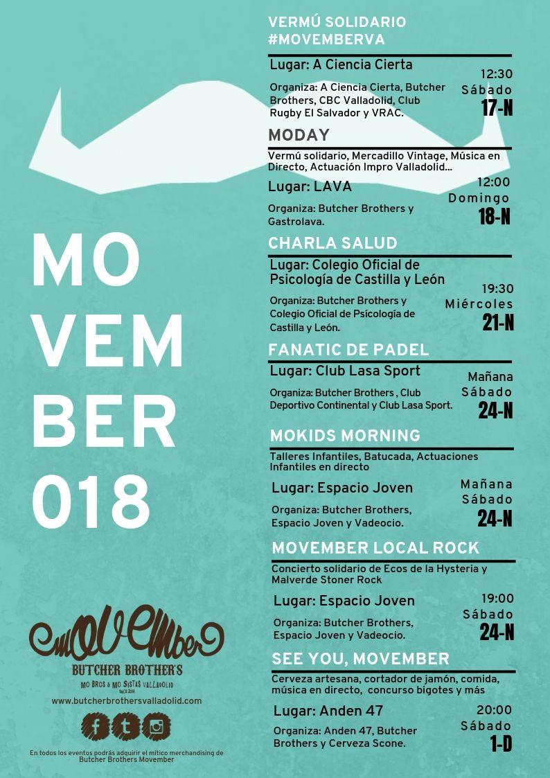 Eventos y actividades Butcher Brothers Movember Team Valladolid